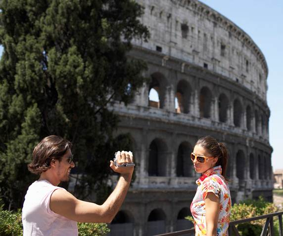 Tourists in Rome