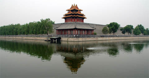 The north east corner of the Forbidden City