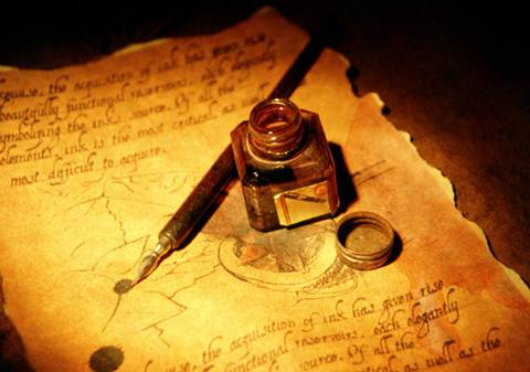 A beautiful handwritten manuscript. I'm sure we all wish our writing looked like this!
