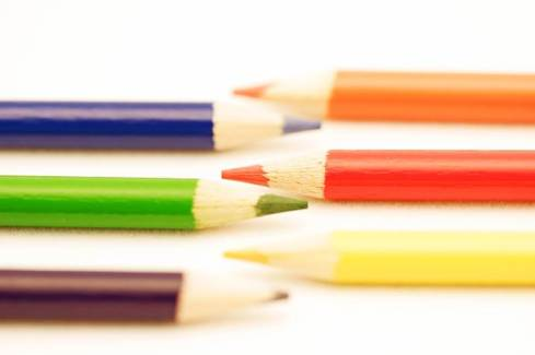 Six pencils in pretty colours.