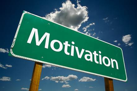 A motivation sign post. Keep driving this way for writing motivation!