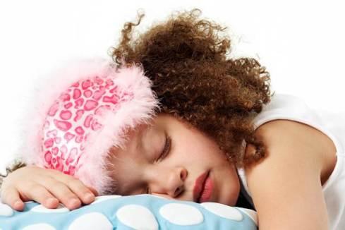 Girl sleeping - she's definitely having a non-writing day...